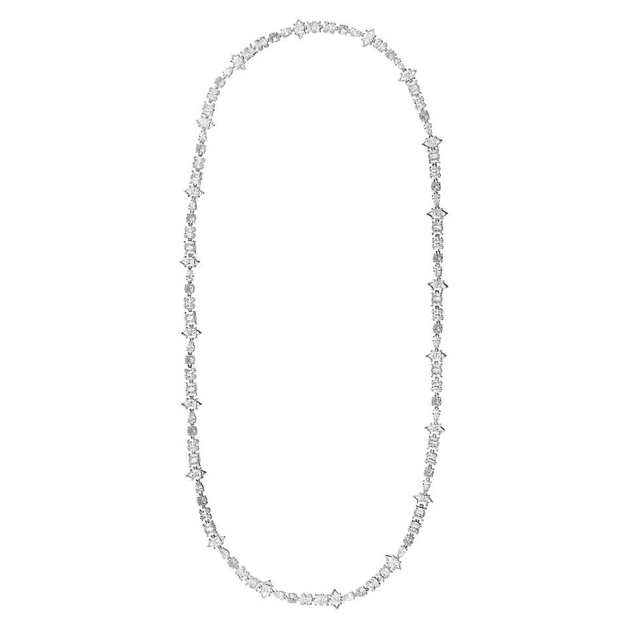 JAGGED EDGE MICRO X-LONG STRAND NECKLACE