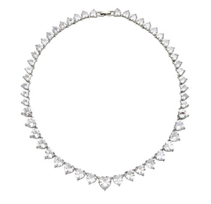 The FALLON Heart Rivière Collar Necklace has been worn by celebrities like Kylie Jenner, and Chriselle Lim.