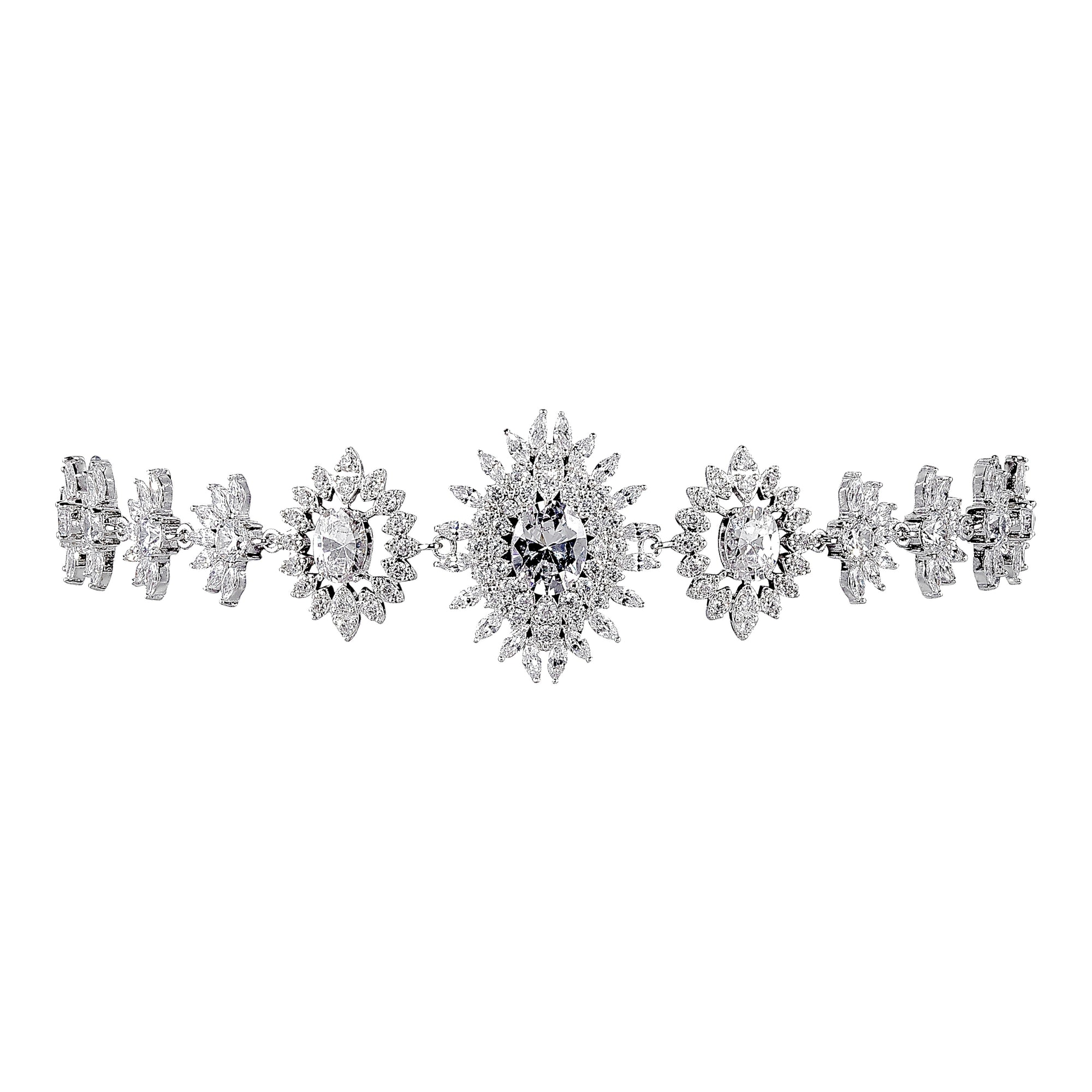 THE FALLON EYE OF DANA CHOKER NECKLACE IN RHODIUM.