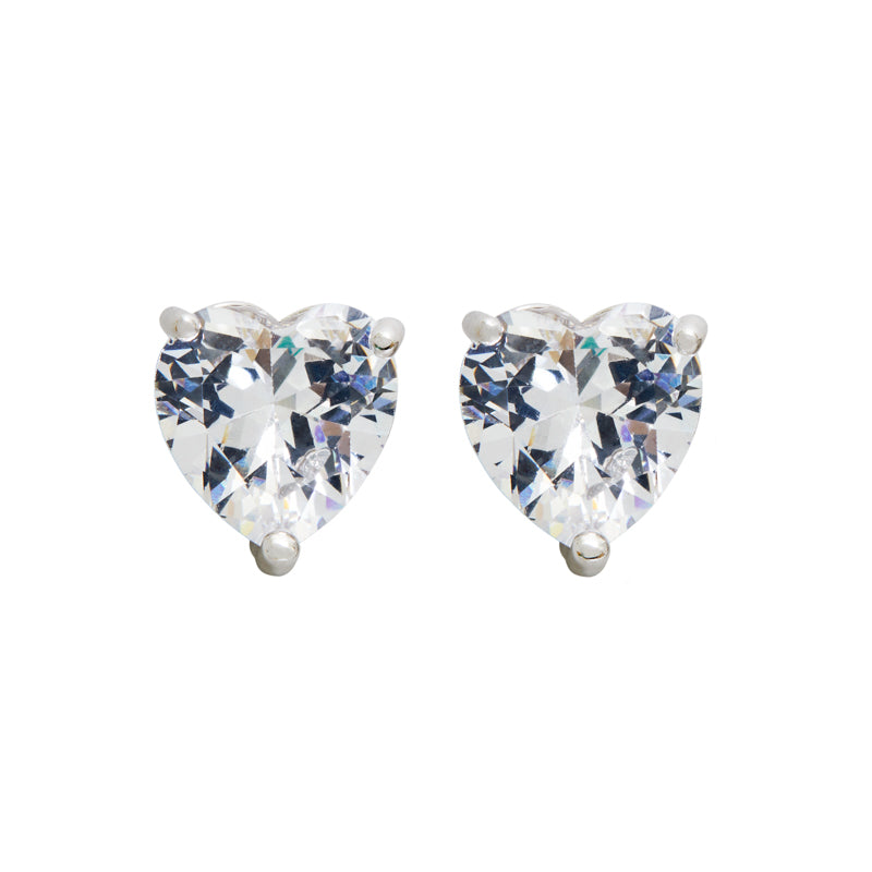 The FALLON Solitaire Heart Stud Earrings.