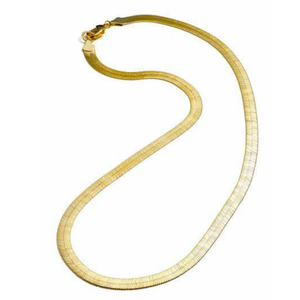 MEDIUM HERRINGBONE CHAIN NECKLACE - GOLD