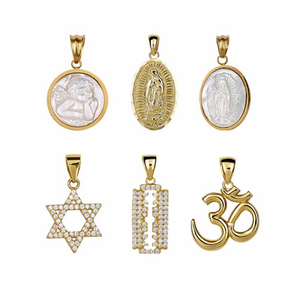 "The FALLON Armure Charm Series.  Choose your charms, choose your chain in either 18"" or 24"".  Create a charm necklace that is completely you. Gold-plated charms, cubic zirconia, and shell pearl."