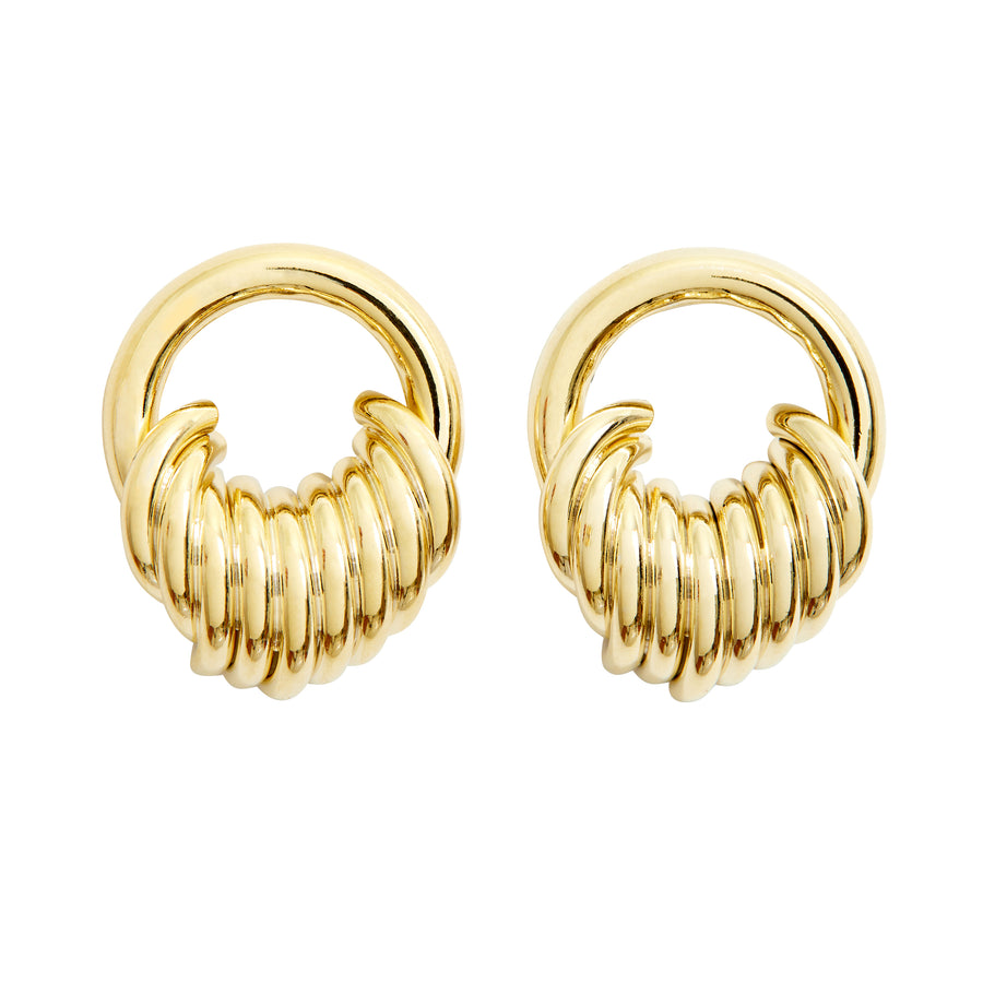 STACKED HOOP EARRINGS - GOLD