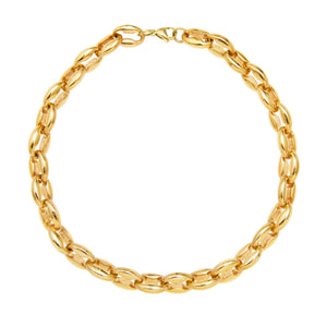 TOSCANO CHAIN CHOKER NECKLACE - GOLD
