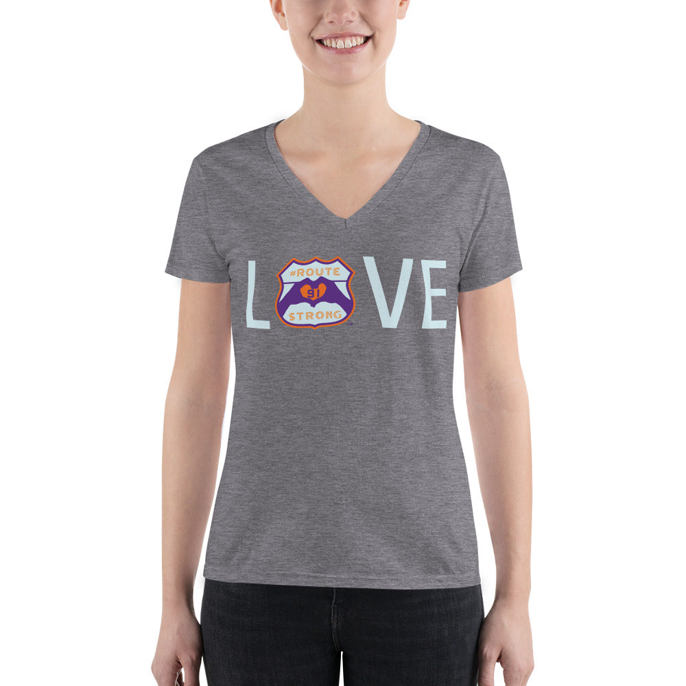 LOVE Logo Fashion Deep V-neck Tee