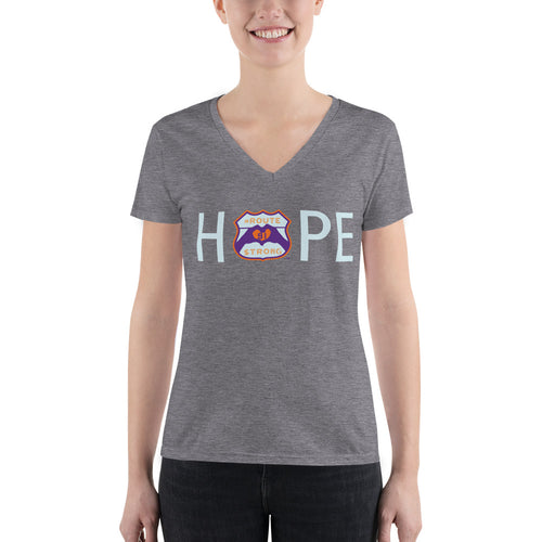 HOPE Logo Fashion Deep V-neck Tee