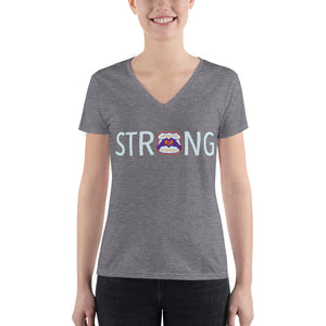 STRONG Logo Fashion Deep V-neck Tee