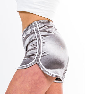 Double Sided Striped Shorts - Grey