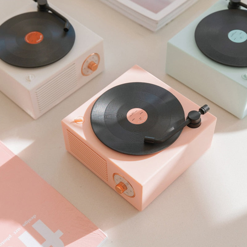 RETRO BLUETOOTH RECORD PLAYER - PINK