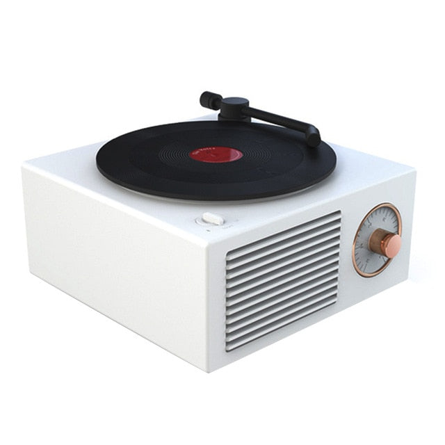 RETRO BLUETOOTH RECORD PLAYER - WHITE