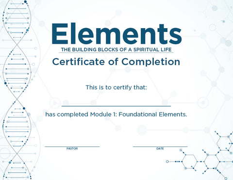 Elements Certificates – Module 1 (Package of 10)