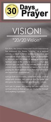 "Vision ""20/20 Vision""  Prayer Guide"
