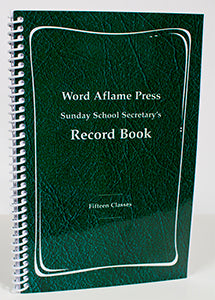 WAP Sunday School Secretary's Record Book
