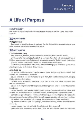 A Life of Purpose Lesson 9 Adult Winter 2019 (Download)