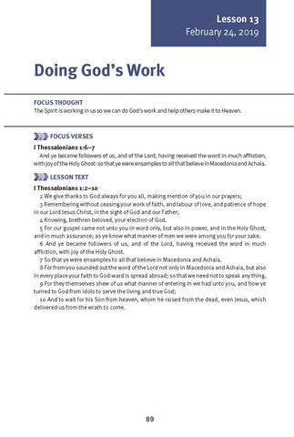 Doing God's Work Lesson 13 Adult Winter 2019 (Download)