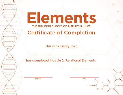 Elements Certificates – Module 2 (Package of 10)