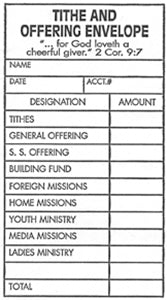 Tithe and Offering Envelope Size #2 (Package of 500)