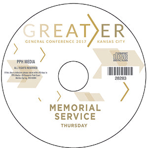 2017 GC - Memorial Service - Thurs  CD