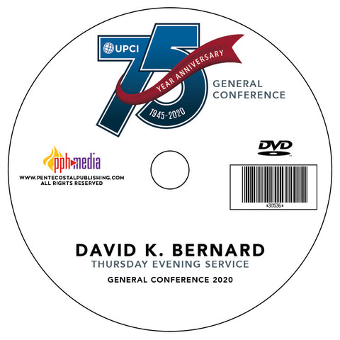 GC 2020 David K. Bernard - Thursday Evening DVD