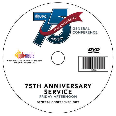 GC 2020 75th Anniversary Service - Friday DVD
