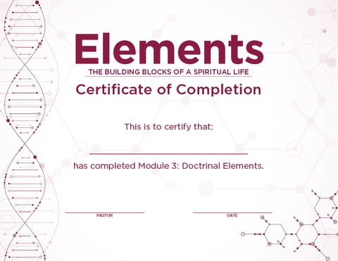 Elements Certificates – Module 3 (Package of 10)
