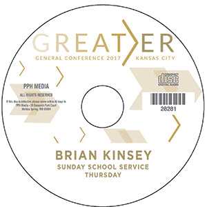 2017 GC - Brian Kinsey - Sunday School Svs - Thurs  MP3