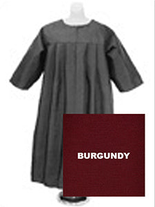 Baptismal Robe - Burgundy X-Large