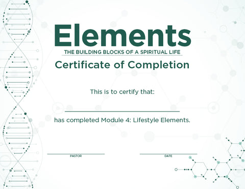 Elements Certificates – Module 4 (Package of 10)