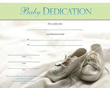 Baby Dedication Certificate - Baby Shoes