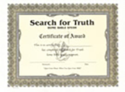Search for Truth - Completion Certificates (Package of 10)