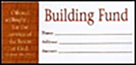Offering Envelope Building Fund Bill Size (Package of 100)