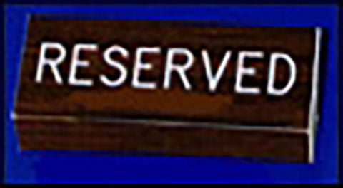 "Flexible Pew Sign - Reserved - Small - (3"" x 4"")"