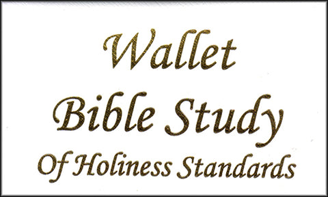 Wallet Bible Study - Holiness
