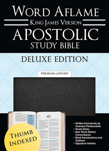 Apostolic Study Bible Deluxe Edition Thumb Index Premium Leather