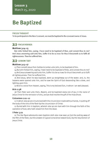 Be Baptized Lesson 3 Adult Spring 2020 (Download)