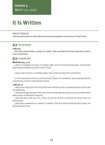 It Is Written Lesson 4 Adult Spring 2020 (Download)