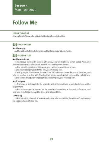 Follow Me Lesson 5 Adult Spring 2020 (Download)