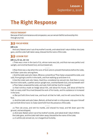 The Right Response Lesson 1 Adult Fall 2018 (Download)