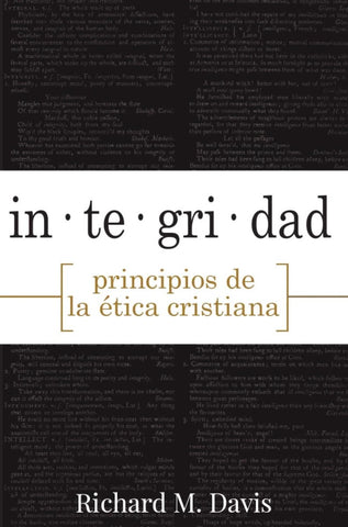 Integrity Principles of Christian Ethics (Spanish) (eBook)