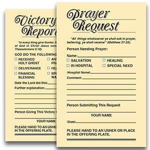 Prayer Request/Victory Report Card