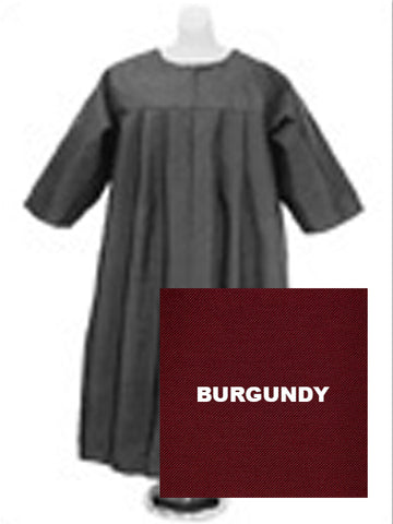 Baptismal Robe Burgundy (Children's Sz XS)
