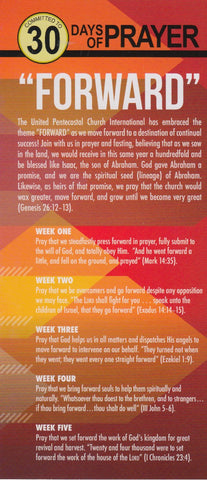 Prayer Guide 30 Days of Prayer Forward (2018)