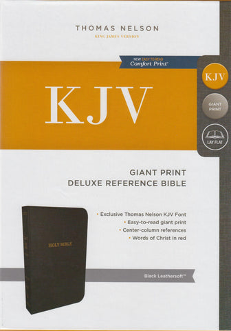 KJV Giant Print Deluxe Reference Bible Black