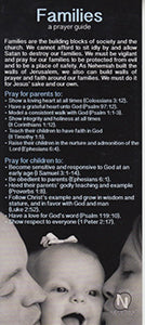 Prayer Guide Praying for Families