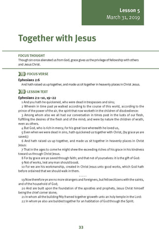 Together with Jesus Lesson 5 Adult Spring 2019 (Download)