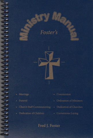 Foster's Ministry Manual Blue