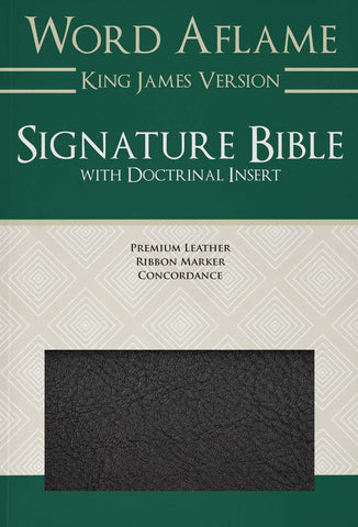 Word Aflame Signature Bible with Doctrinal Insert