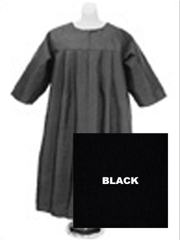 Baptismal Robe Black (Children's Sz XS)