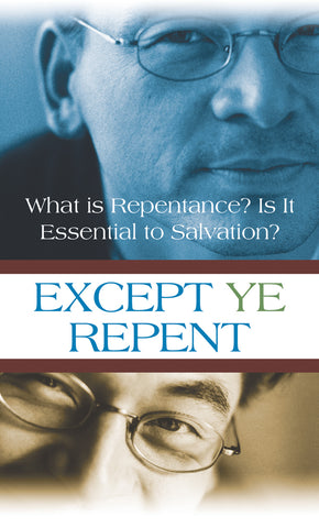 Tract - Except Ye Repent (Package of 100)