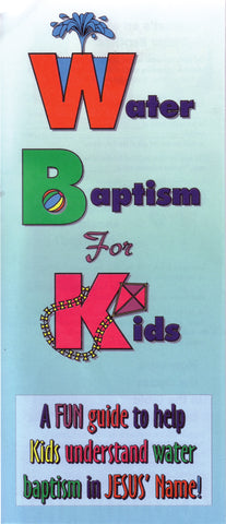 Tract - Water Baptism for Kids (Package of 100)